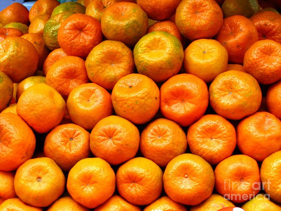Fresh Natural Tangerines Photograph  - Fresh Natural Tangerines Fine Art Print