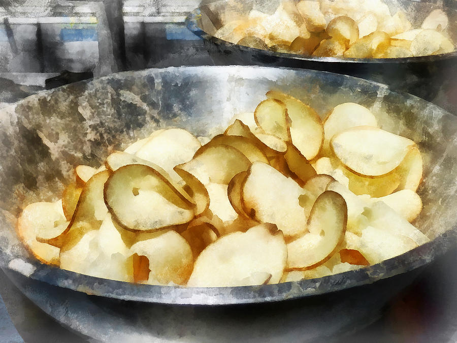 Fresh Potato Chips Photograph