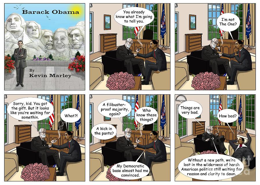 Barack  Obama Digital Art - Freud And His Diagnosis II by Kevin  Marley