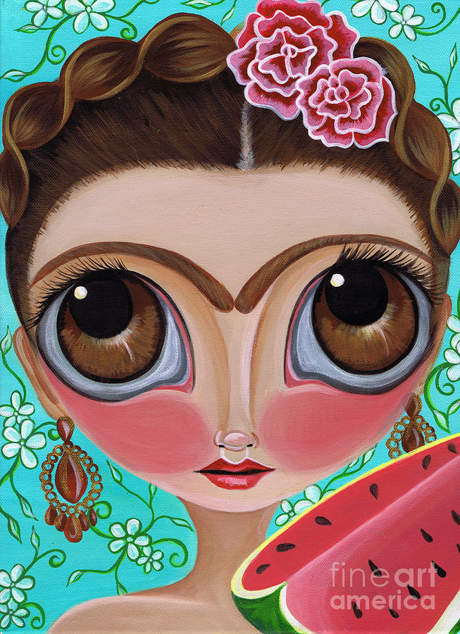 Frida And The Watermelon Painting