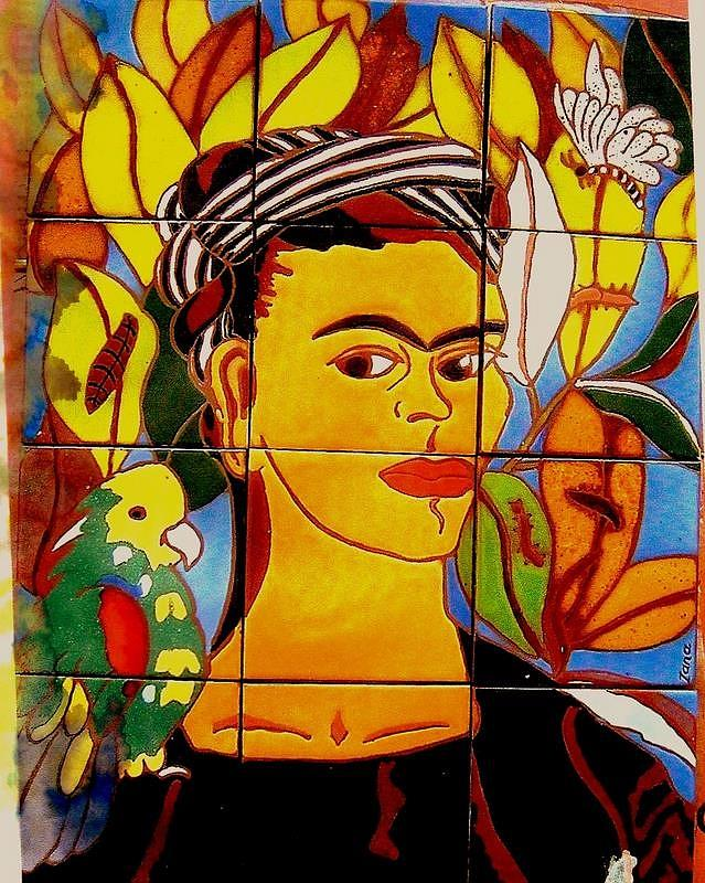 Frida Ceramic Art  - Frida Fine Art Print