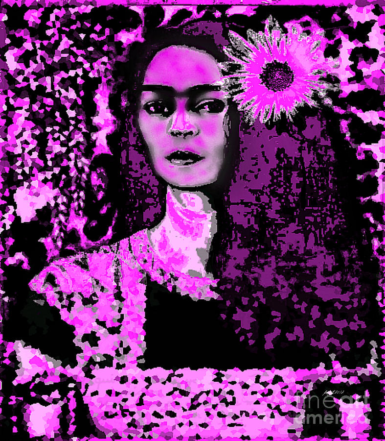 Frida In Frida Pink Digital Art  - Frida In Frida Pink Fine Art Print