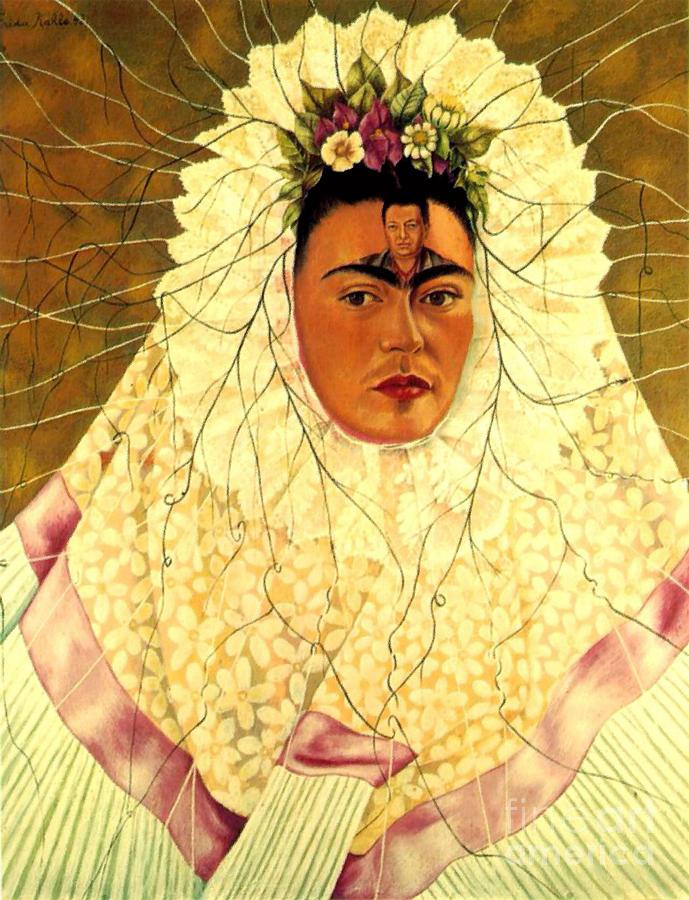 Frida kahlo tehuana self portrait painting