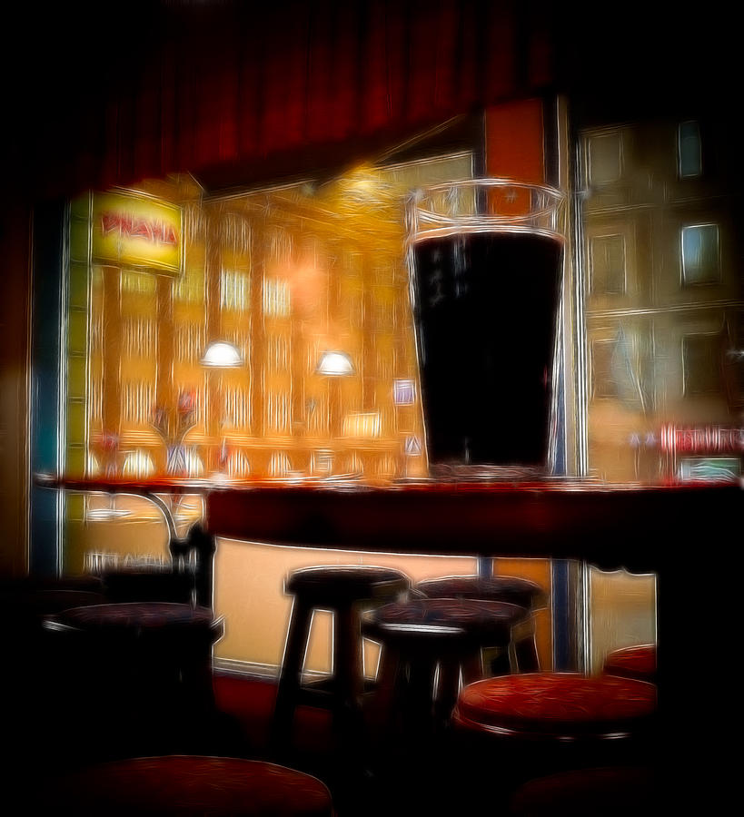 Friday Night Beer Digital Art  - Friday Night Beer Fine Art Print