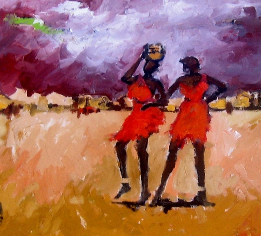 Landscape Painting - Friends 2 by Negoud Dahab