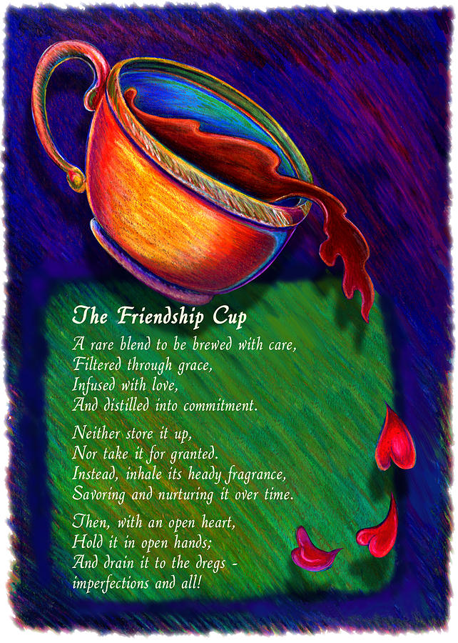 Friendship Cup Drawing  - Friendship Cup Fine Art Print