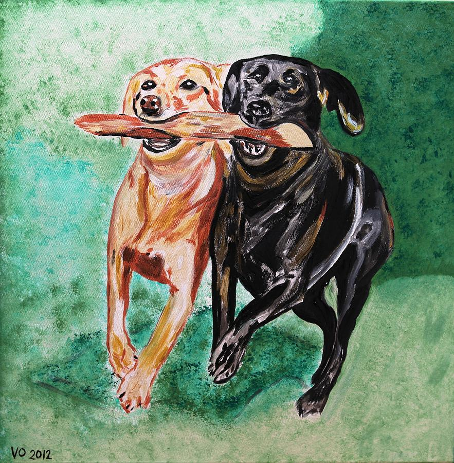 Friendship Painting  - Friendship Fine Art Print