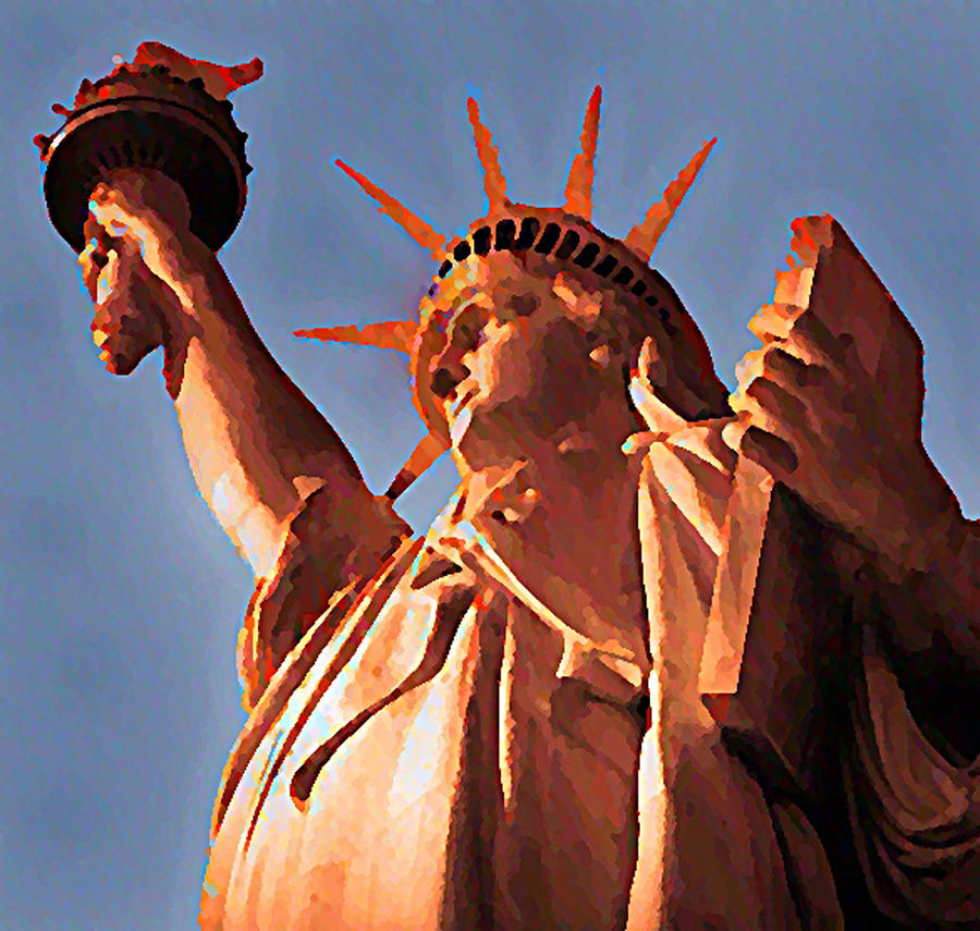 Fringe Lady Liberty Digital Art