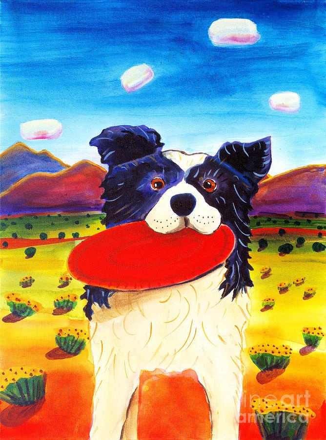 Frisbee Dog Painting