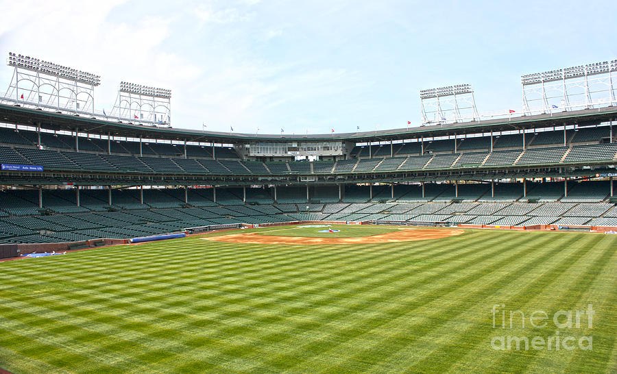Wrigley Field Photograph - From Center by David Bearden