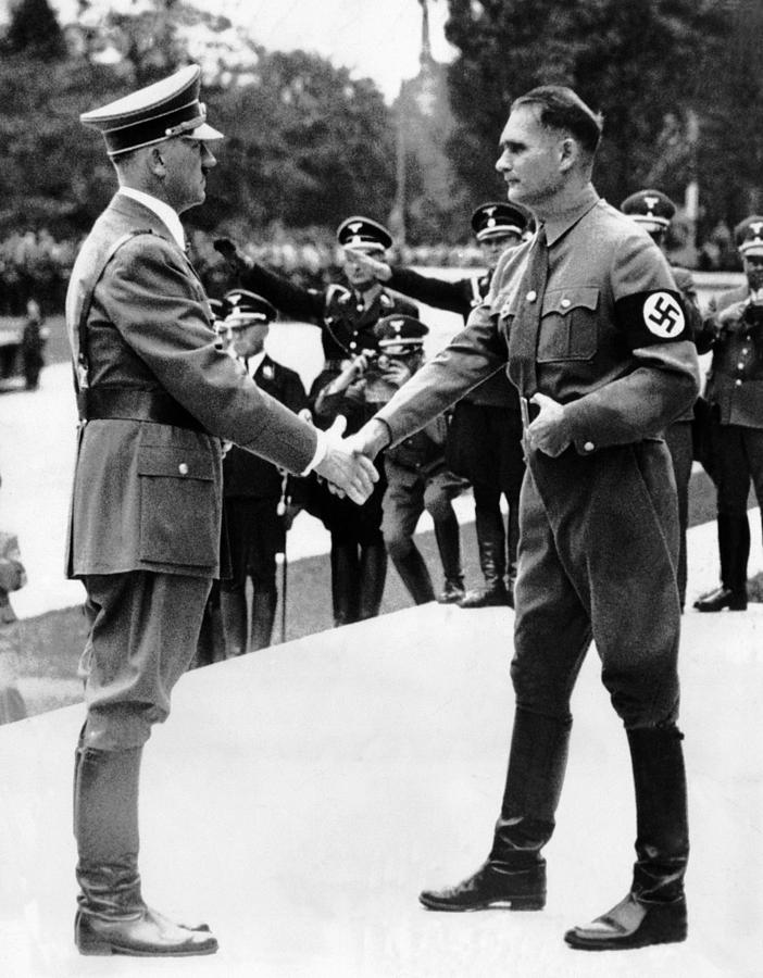 From Left, Adolf Hitler, Deputy Rudolf Photograph  - From Left, Adolf Hitler, Deputy Rudolf Fine Art Print