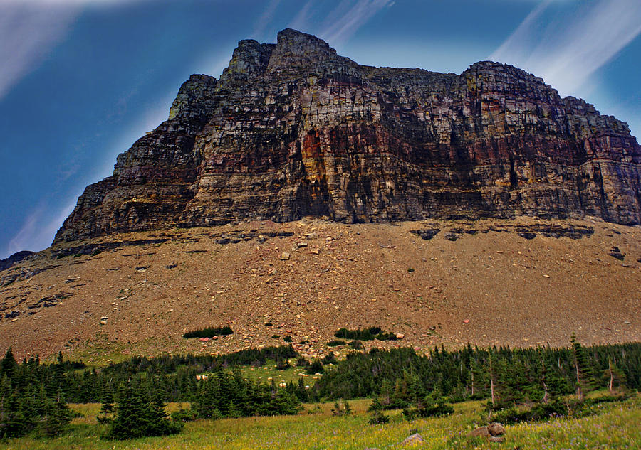 From Logan Pass Photograph  - From Logan Pass Fine Art Print