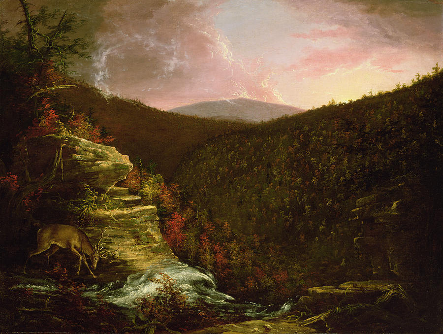 From The Top Of Kaaterskill Falls Painting
