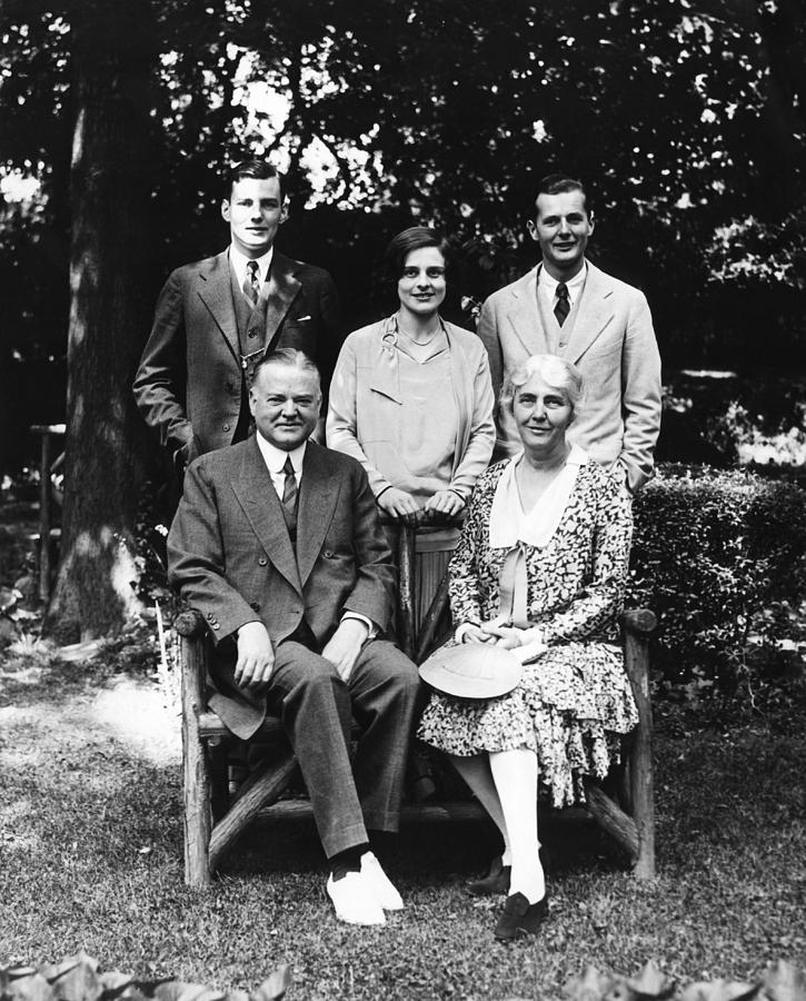 Front Future President Herbert Hoover Photograph