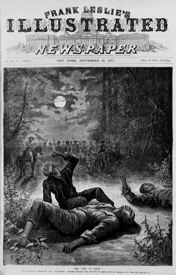 Front Page Of 1874 Newspaper Declaring Photograph  - Front Page Of 1874 Newspaper Declaring Fine Art Print