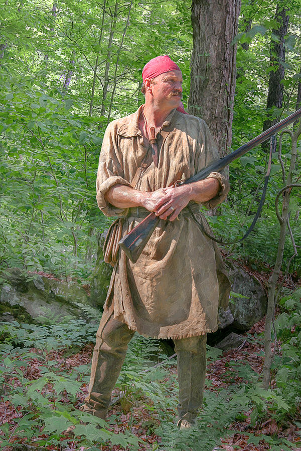 Frontiersman scout by randy steele for Built for war shirt