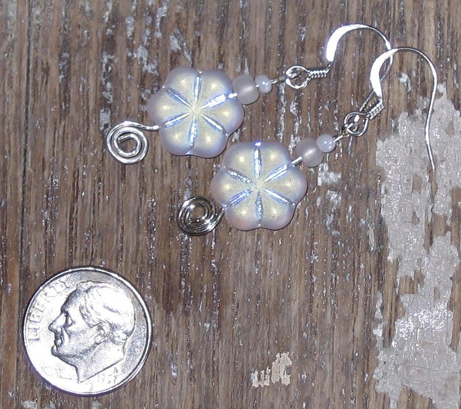 Frosted Flower Power Earring Jewelry