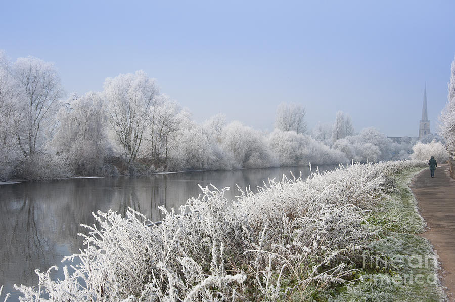 Frosty Morning Landscape Photograph  - Frosty Morning Landscape Fine Art Print