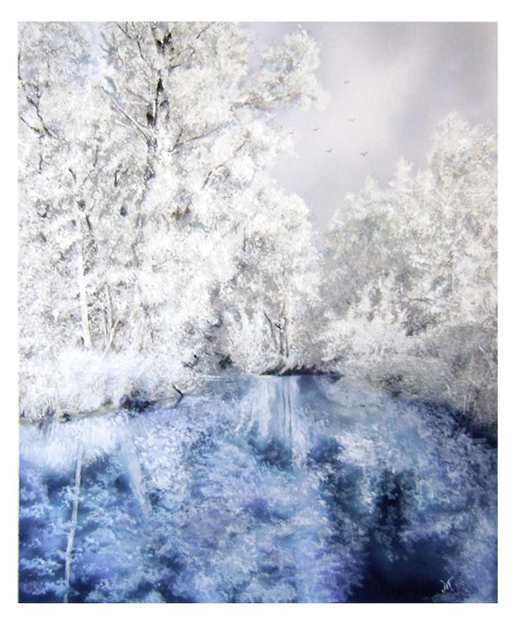 Frozen Beauty Painting  - Frozen Beauty Fine Art Print