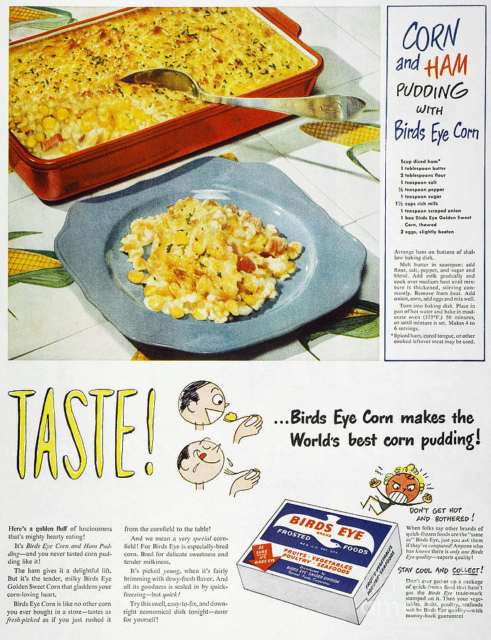 Frozen Food Ad, 1947 Photograph