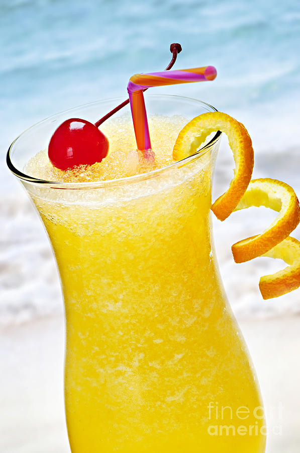 Frozen Tropical Orange Drink Photograph