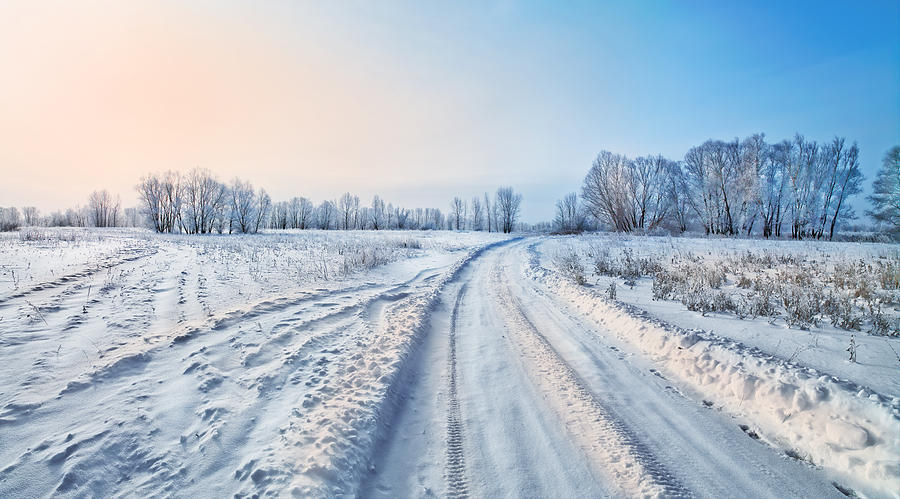 Frozen Winter Road Photograph  - Frozen Winter Road Fine Art Print