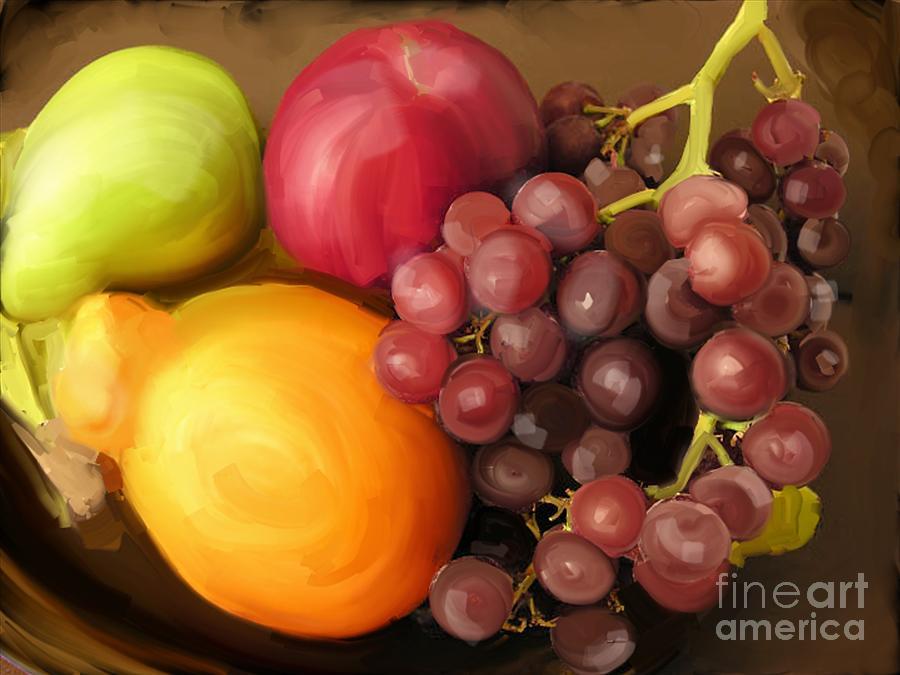 Fruit Photograph - Fruit Aplenty by Anne Ferguson