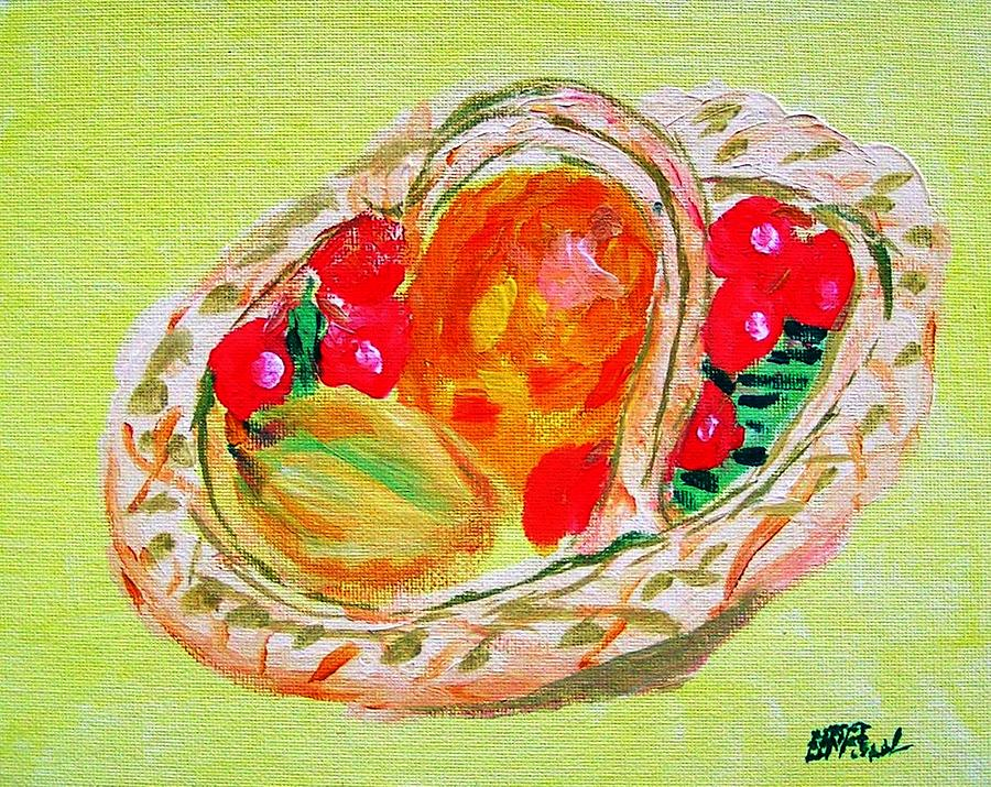 Fruit Basket Painting  - Fruit Basket Fine Art Print