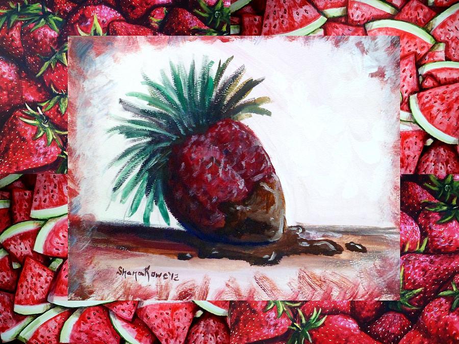 Strawberry Painting - Fruit Fusion by Shana Rowe Jackson