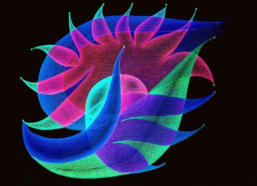 fruits inverted colors painting by tatyana zverinskaya