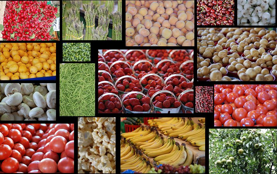 Fruits Mosaic Photograph  - Fruits Mosaic Fine Art Print