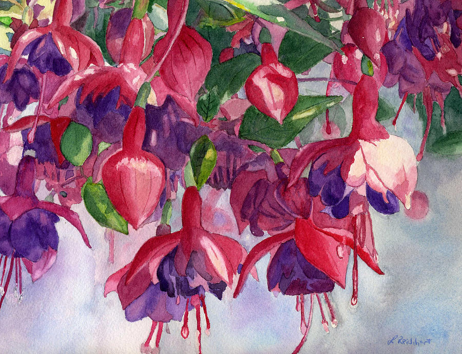 Fuchsia Frenzy Painting