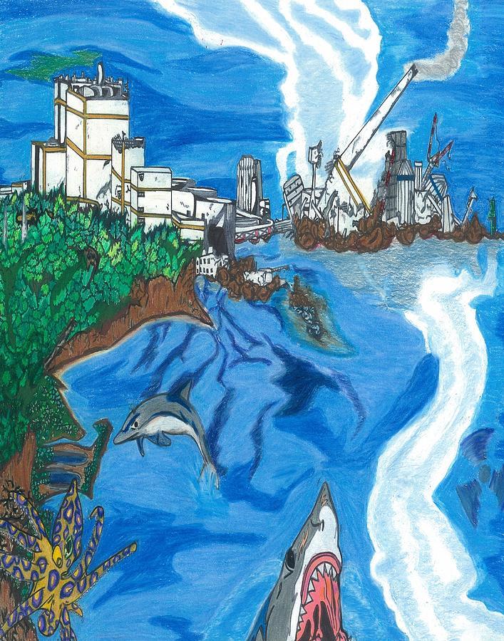 Fukushima Daiichi In Ruin Drawing