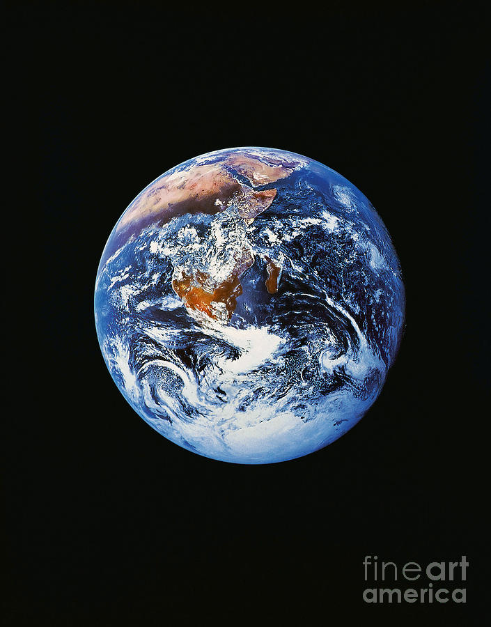 Full Earth From Space Photograph  - Full Earth From Space Fine Art Print