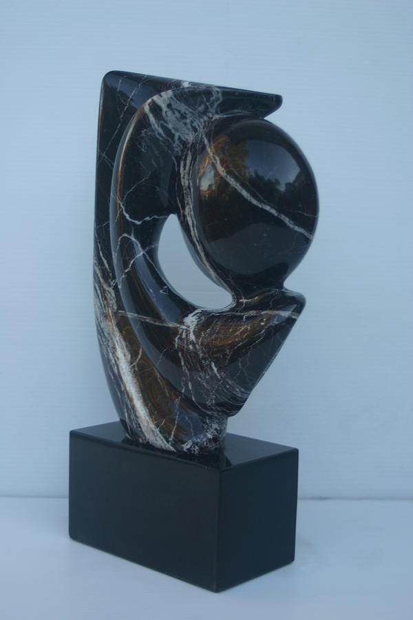 Marble Sculpture - Full Moon by Fred Alwahan