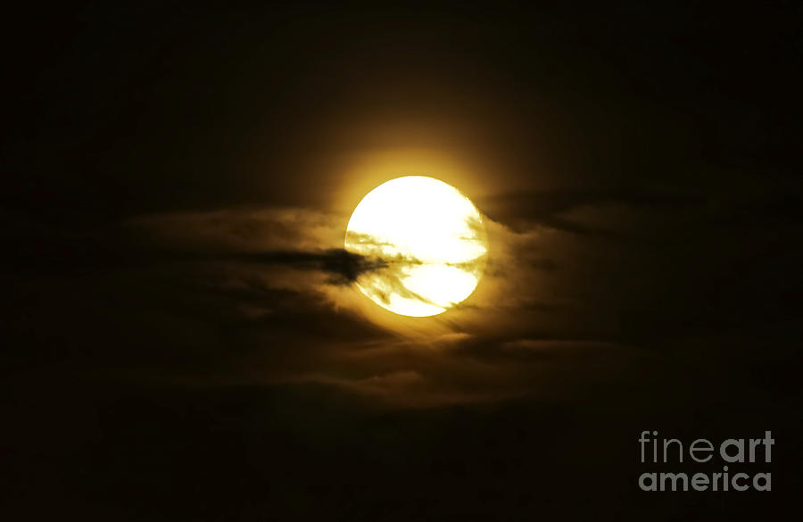 Full Moon In The Night Sky, Sobreda Photograph