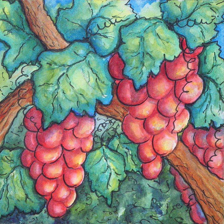Fun Grapes Painting