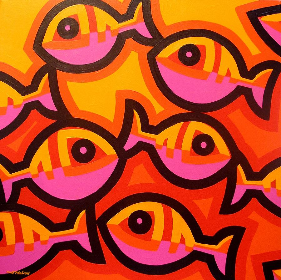 Funky fish iv by john nolan for Cuadros de peces