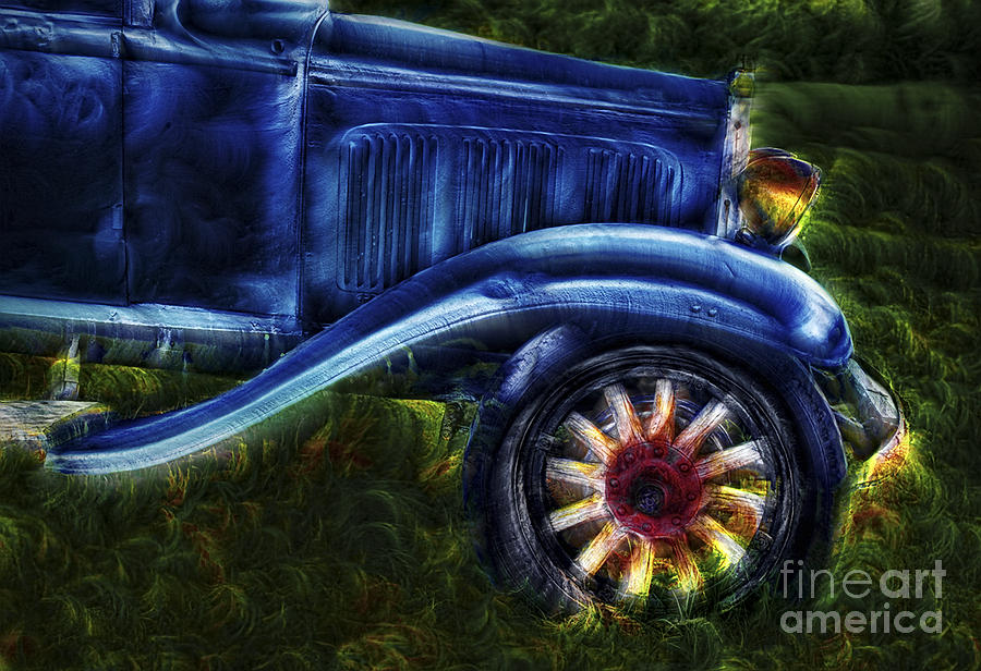 Cars Photograph - Funky Old Car by Susan Candelario