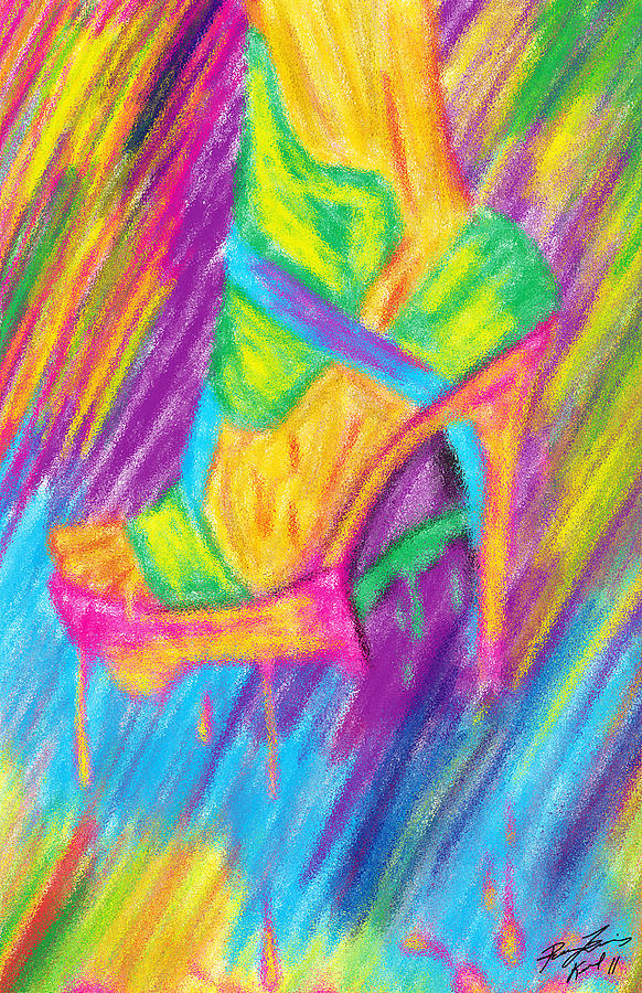 Funky Stilettos Impression Digital Art  - Funky Stilettos Impression Fine Art Print