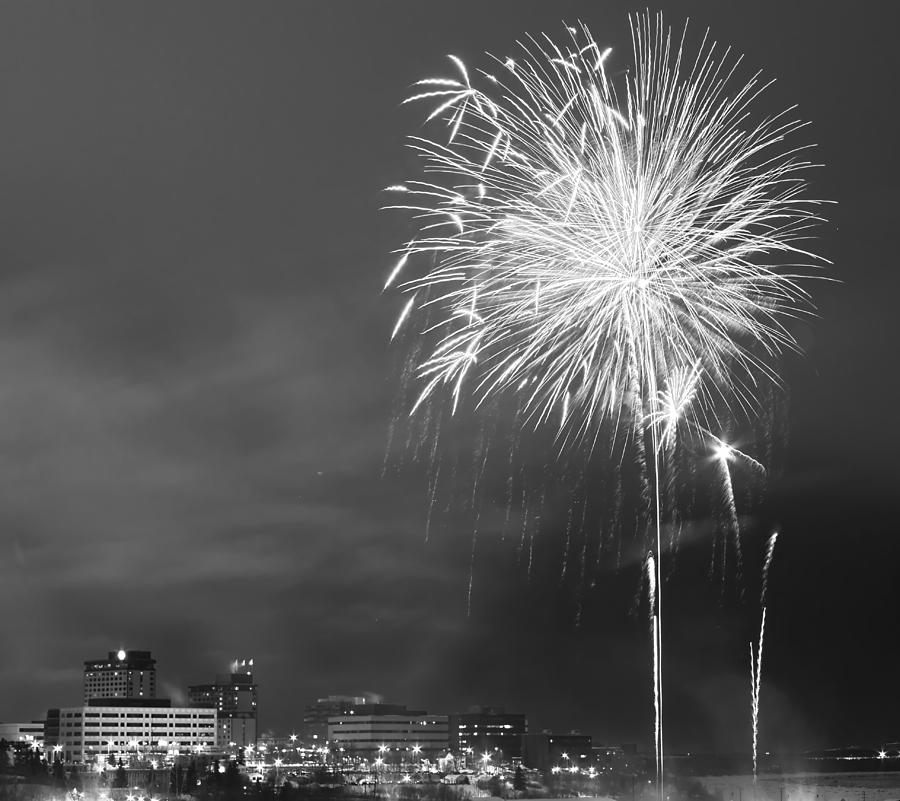 Fur Rondy Fireworks Photograph