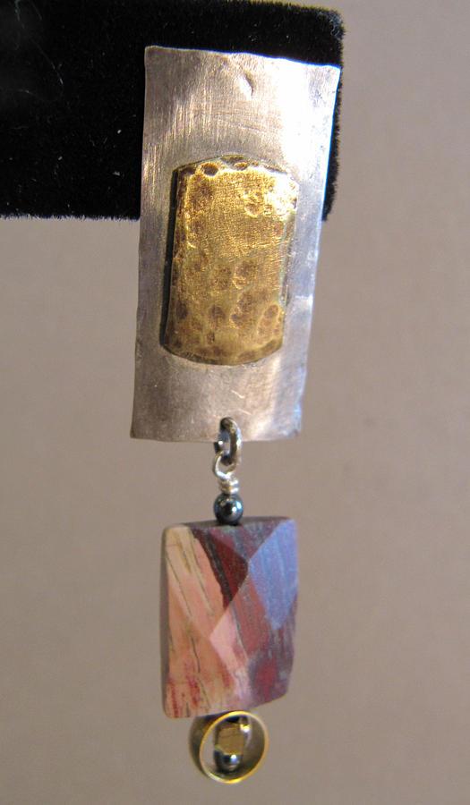 Fused Barss On Sterling Silver Poppy Jasper Earrings Jewelry