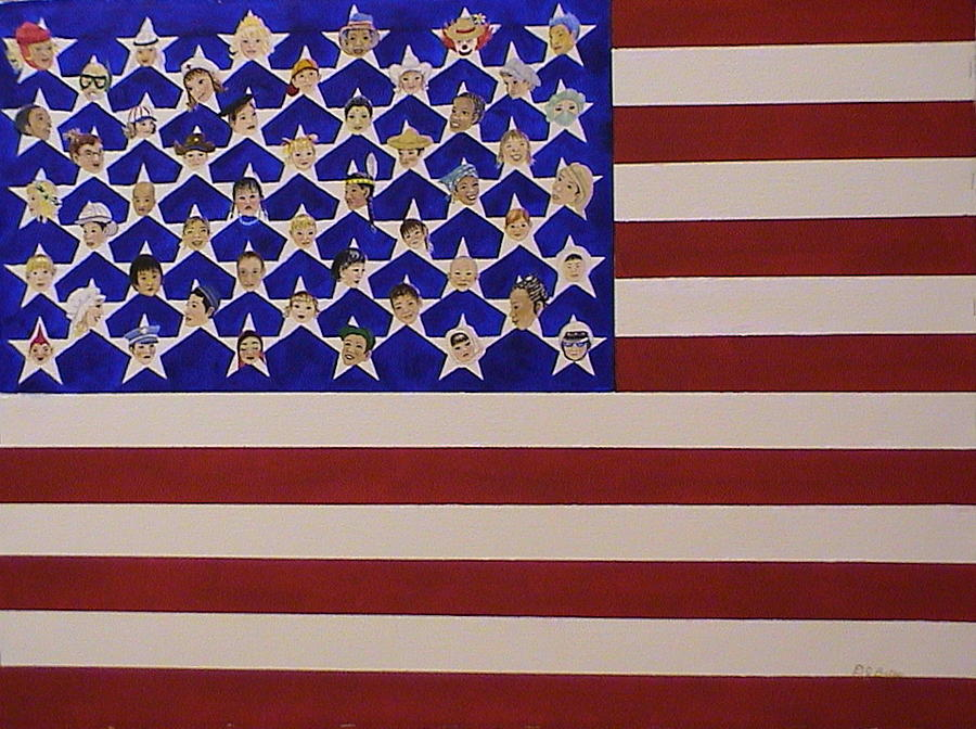 American Flag Painting - Future Stars Of The United States Of America by DJ Bates