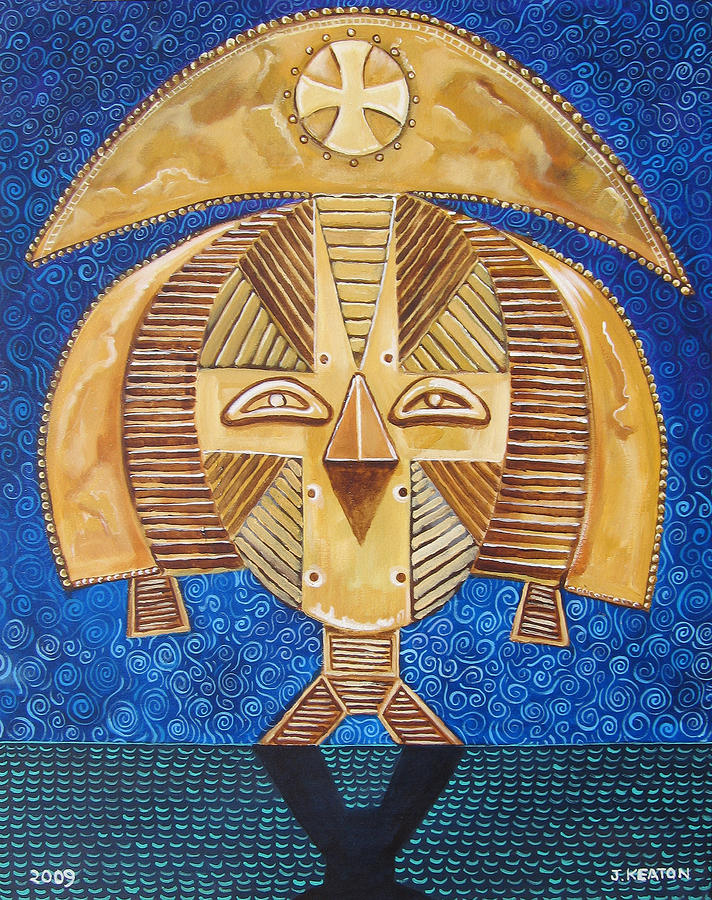 Gabon Mask - A Multi-cultural Celebration Painting  - Gabon Mask - A Multi-cultural Celebration Fine Art Print