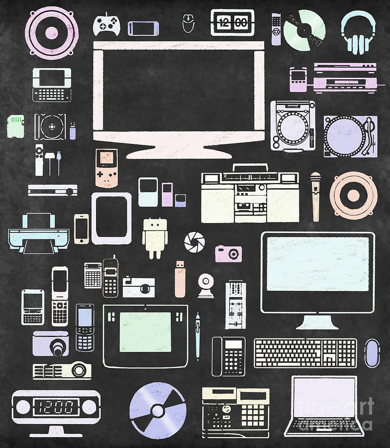 Gadgets Icon Digital Art  - Gadgets Icon Fine Art Print