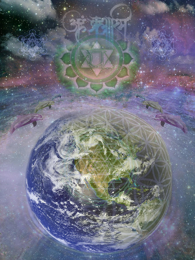 Gaia Mantra Digital Art  - Gaia Mantra Fine Art Print