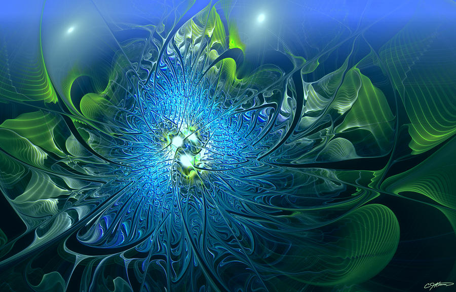 Gaias Emergence Digital Art  - Gaias Emergence Fine Art Print