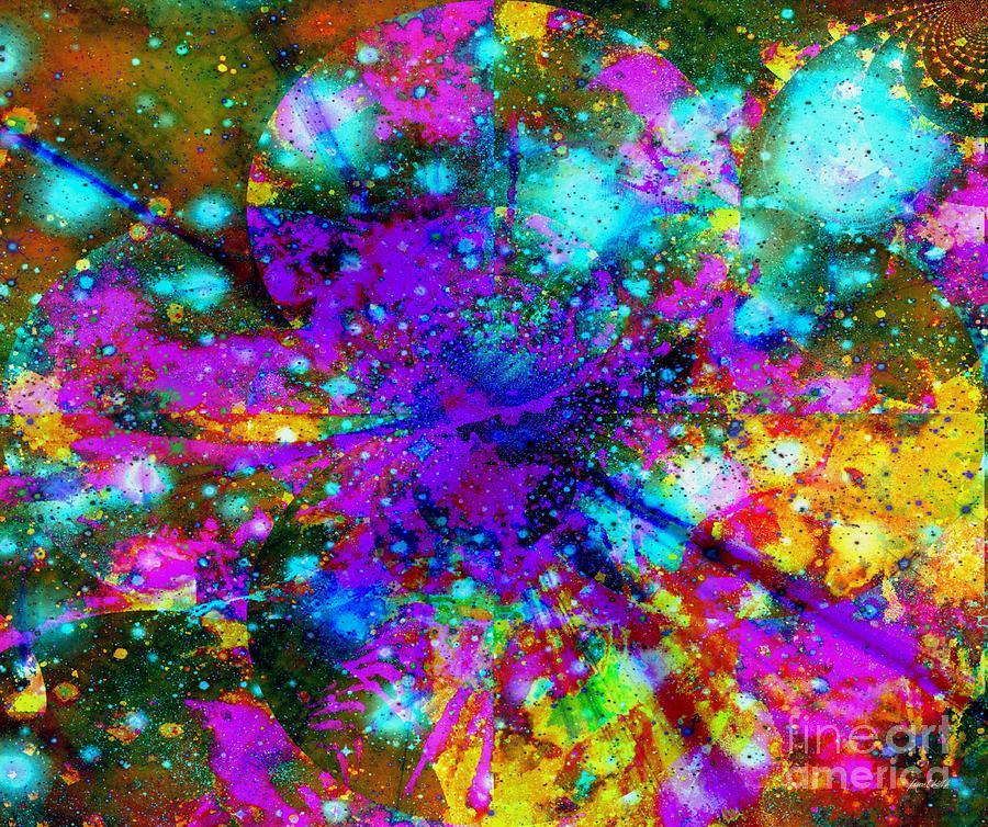 Fania Simon Mixed Media - Galaxie Des Sages - Galaxy Of The Wise by Fania Simon