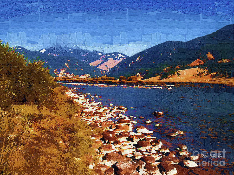 Gallatin River Dreams Painting  - Gallatin River Dreams Fine Art Print