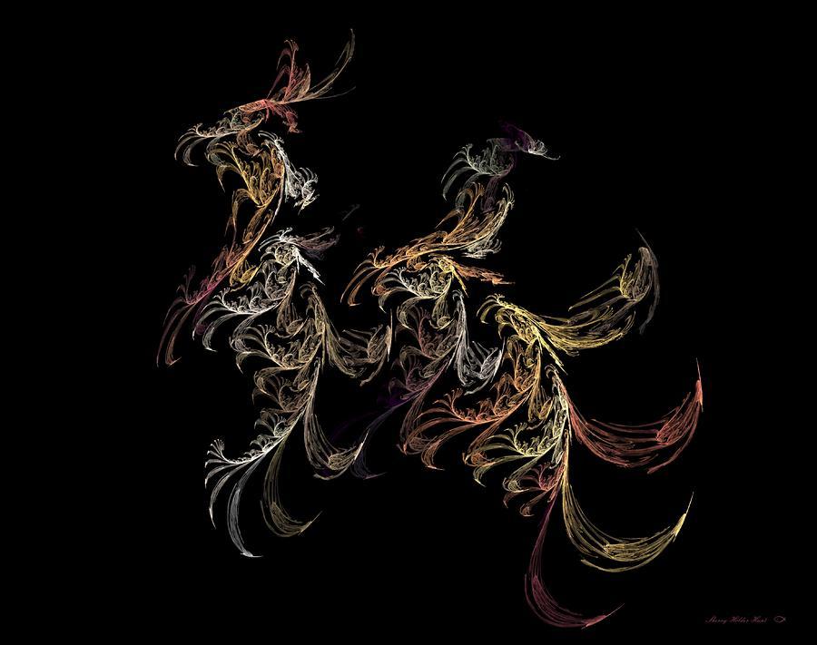 Galloping Away Digital Art